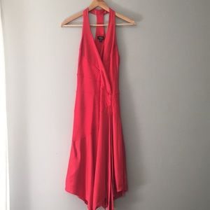 Bebe Silk Ted Racerback Dress